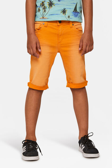 Short denim garçon Orange