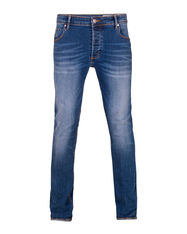 JEANS SKINNY TAPERED SUPER STRETCH HOMME_JEANS SKINNY TAPERED SUPER STRETCH HOMME, Bleu