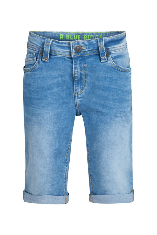 Short jog denim slim fit garçon Bleu