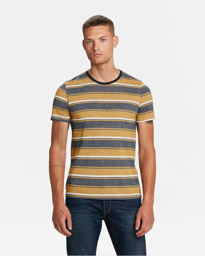 T-SHIRT RAYÉ HOMME Jaune moutarde
