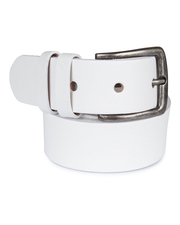 CEINTURE REAL LEATHER HOMME Blanc