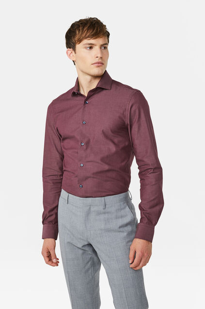 Chemise slim fit homme Rouge