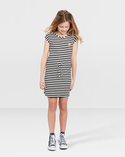 TUNIQUE STRIPED FILLE Noir