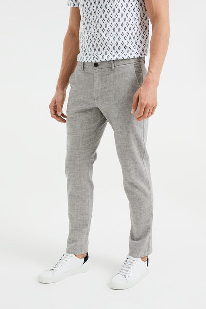 Chino slim fit chiné homme Gris clair mêlé