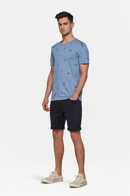 Short denim regular fit homme Bleu marine