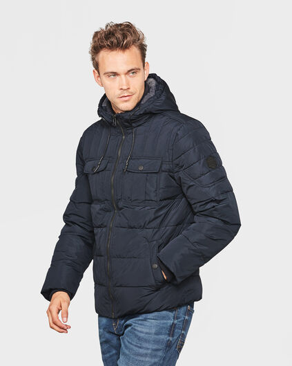 VESTE HOODED PADDED HOMME Bleu