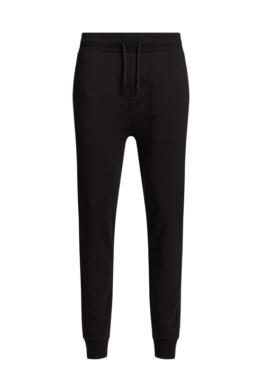 Pantalon de jogging slim fit de tissu sweat homme Noir