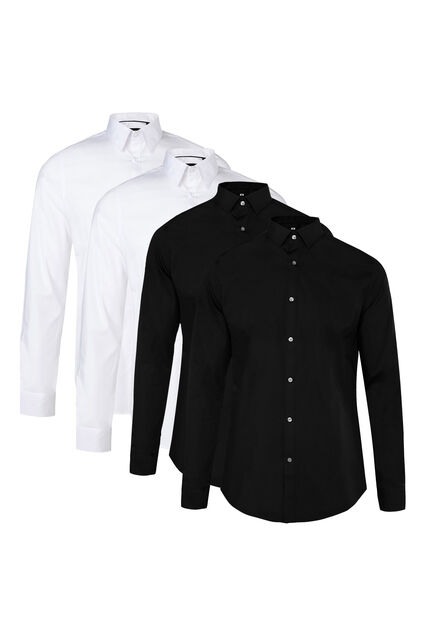 Chemise slim fit stretch homme pack de 4