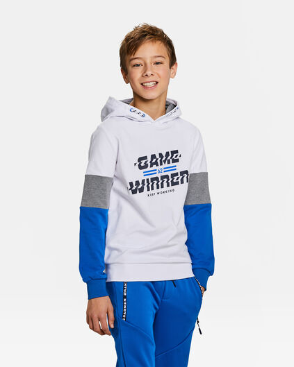 Sweat-shirt à motif game winner garçon Blanc