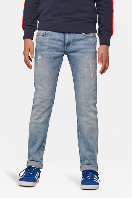 Jeans slim fit rip and repair garçon Bleu