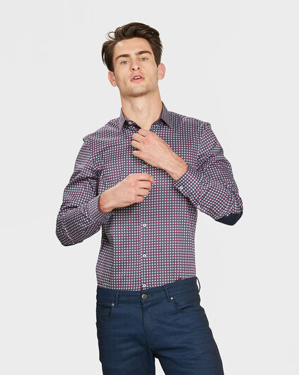 CHEMISE SLIM FIT GRAPHIC PRINT HOMME Rouge