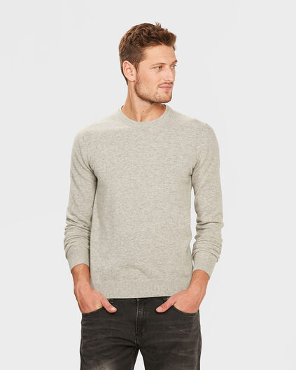 PULL R-NECK LAMBSWOOL BLEND HOMME Blanc