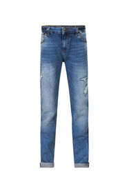 JOG DENIM SLIM FIT GARÇON_JOG DENIM SLIM FIT GARÇON, Bleu