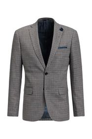 Blazer slim fit à carreaux Carey homme_Blazer slim fit à carreaux Carey homme, Gris