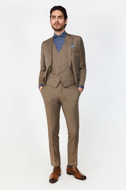 Costume regular fit à carreaux Alfio homme
