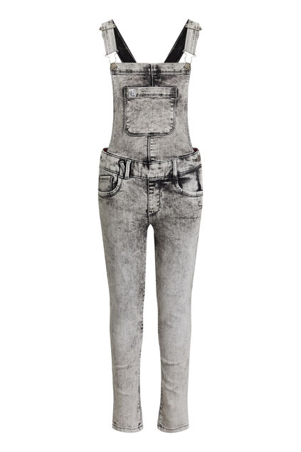 Salopette denim super skinny fille Gris