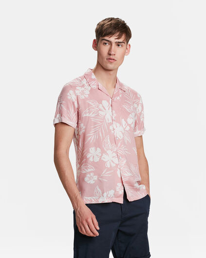 CHEMISE RELAXED FIT PRINT HOMME Rose clair