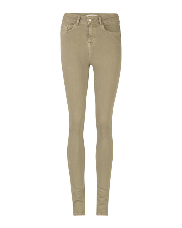JEANS HIGH RISE SKINNY HIGH STRETCH FEMME Vert olive