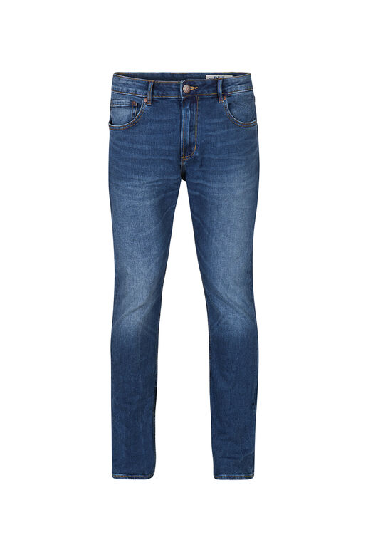 Jeans regular straight stretch confort homme Bleu