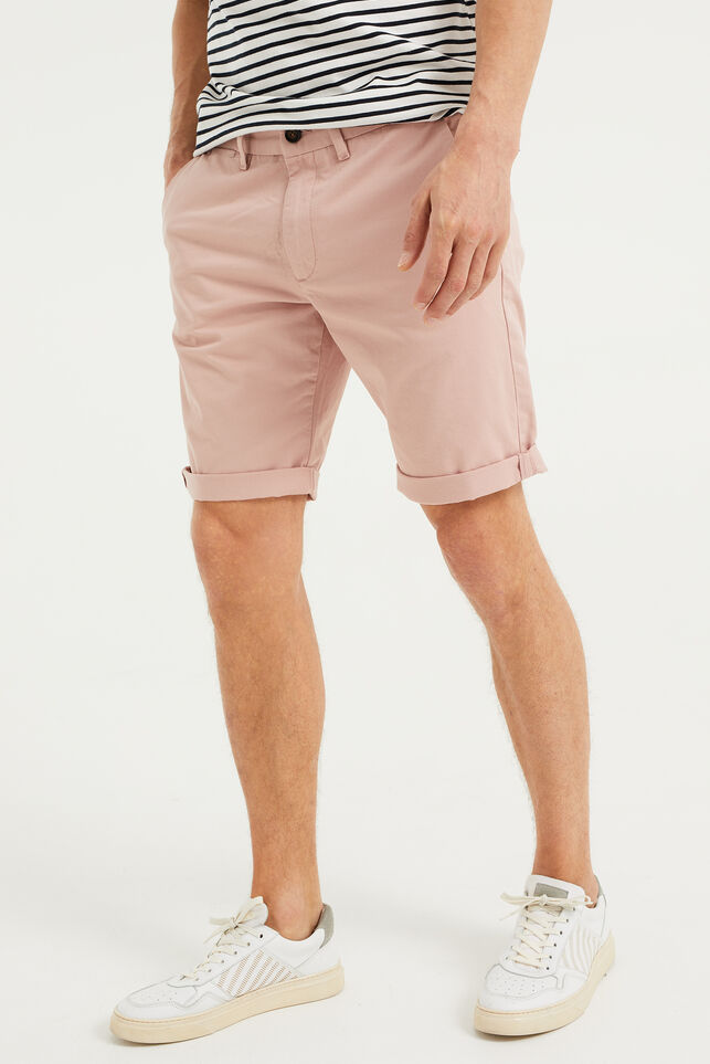 Short chino slim fit homme Rose clair