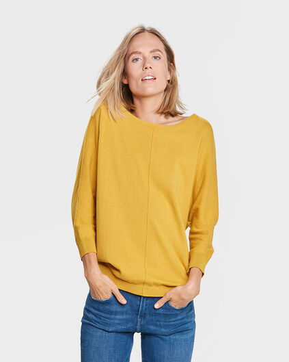 PULL BOW DETAIL FEMME Jaune moutarde