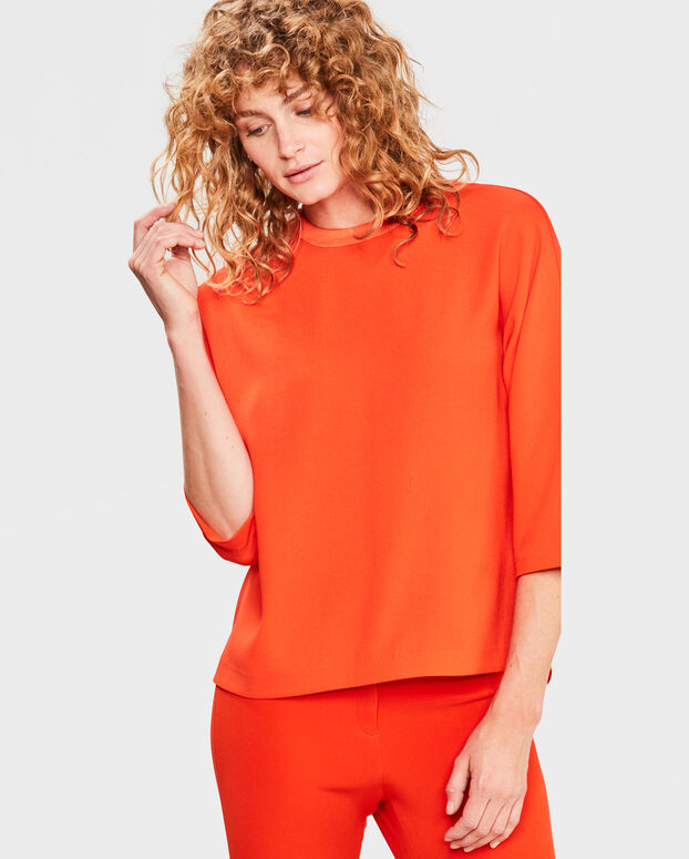 TOP BUTTON BACK DETAIL FEMME Orange