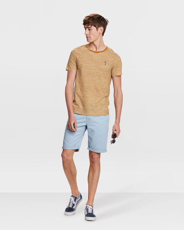 T-SHIRT STRIPED HOMME Or