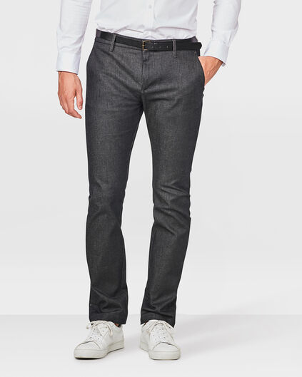 CHINO DENIM SLIM FIT HOMME Noir