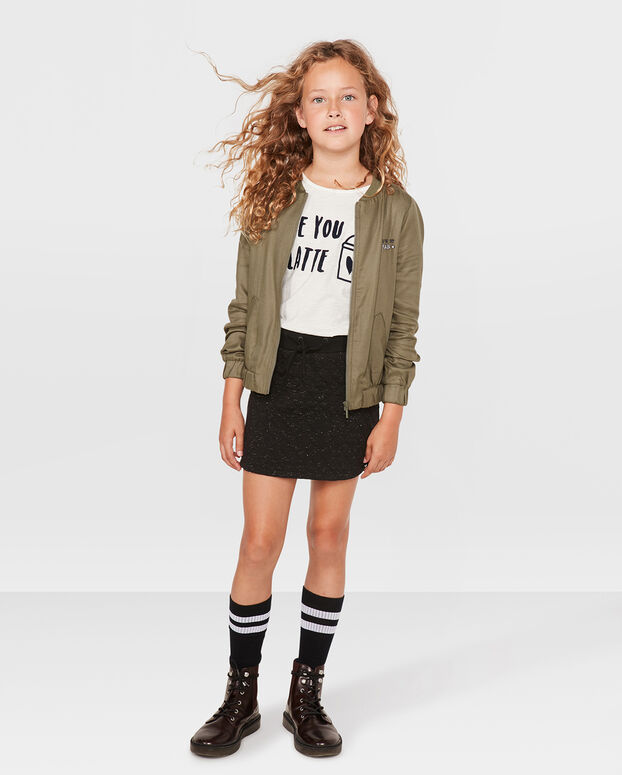 JUPE SWEAT QUILTED FILLE Noir