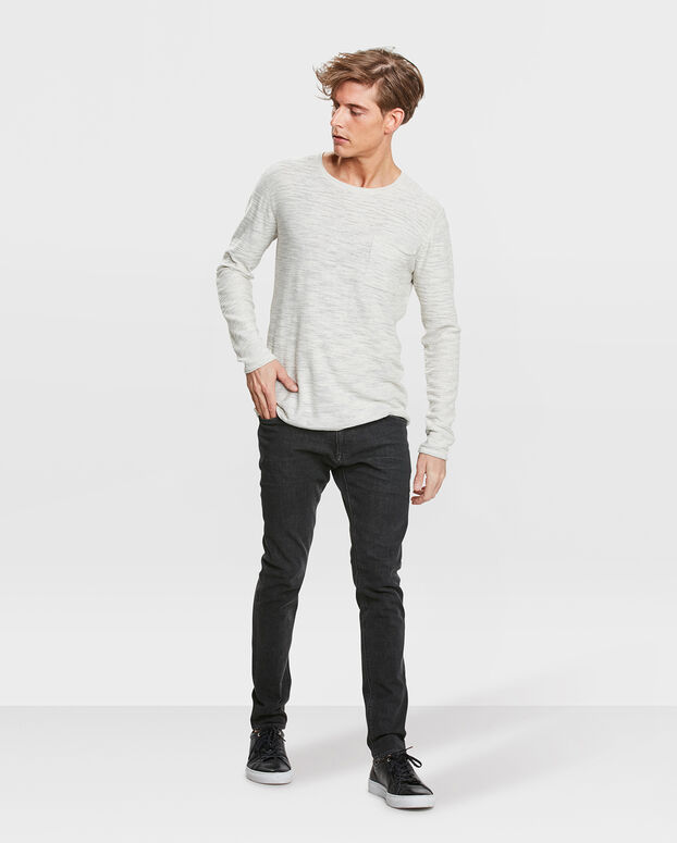PULL SOLID HOMME Gris clair