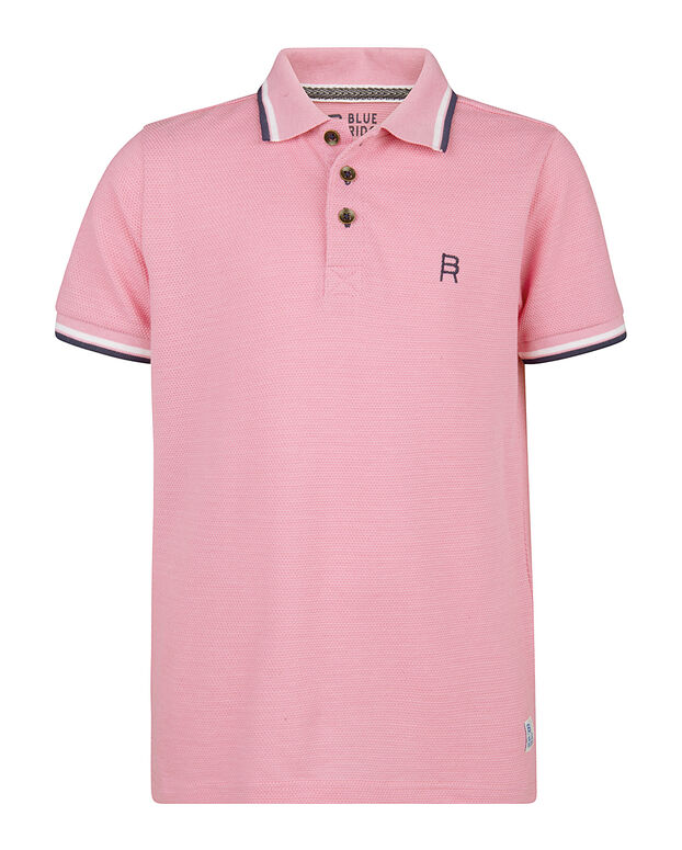 POLO BLUE RIDGE STRUCTURE GARÇON Rose corail