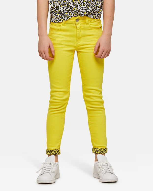 Jeans super skinny colored fille Jaune