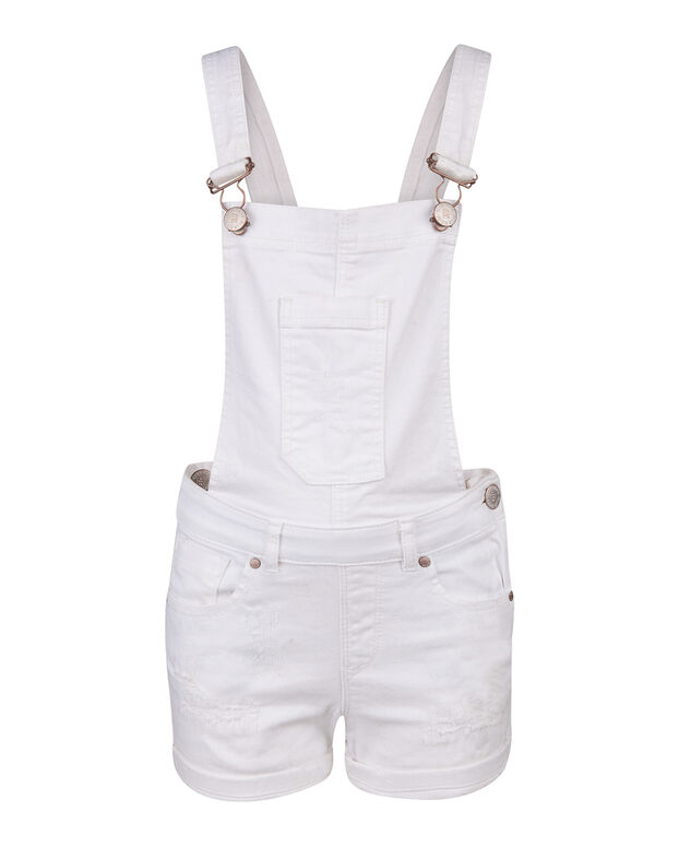 SALOPETTE REGULAR FIT DENIM FILLE Blanc