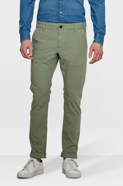 CHINO SLIM FIT CASUAL HOMME Vert clair