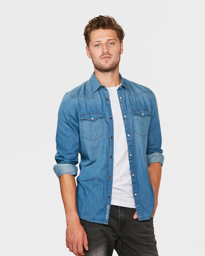 CHEMISIER SLIM FIT DENIM HOMME Bleu