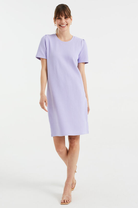 Robe sweat t-shirt à structure femme Lilas
