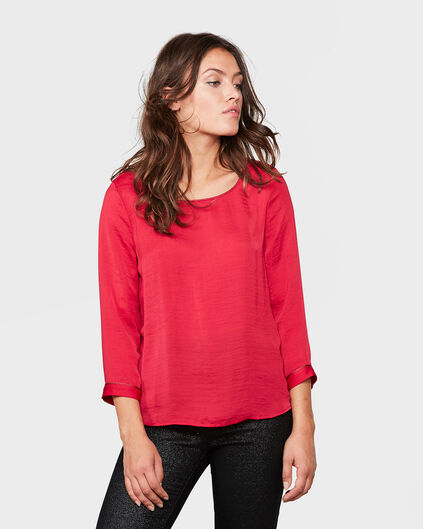 TOP DETAIL FEMME Rouge