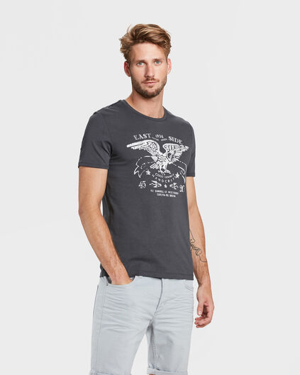 T-SHIRT EAST SIDE PRINT HOMME Anthracite