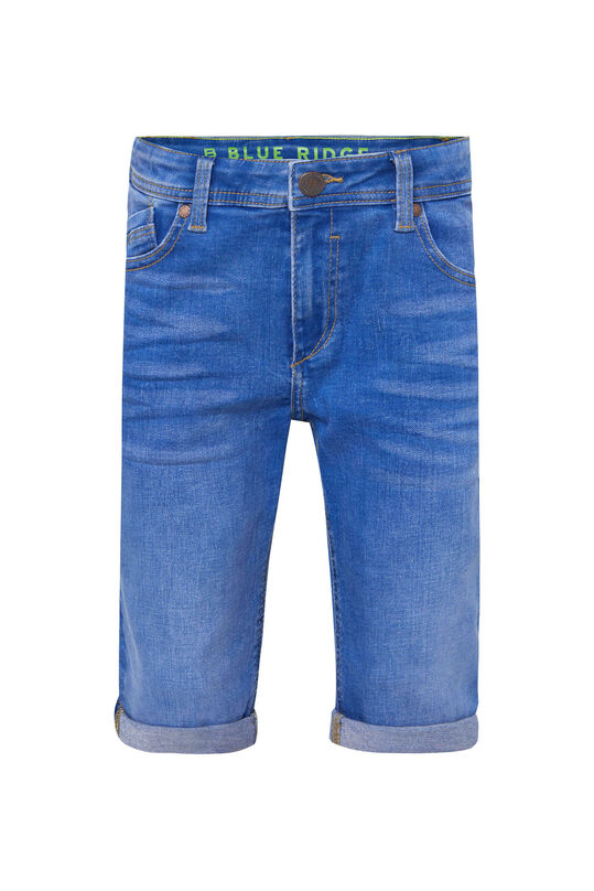 Short denim slim fit garçon Bleu vif