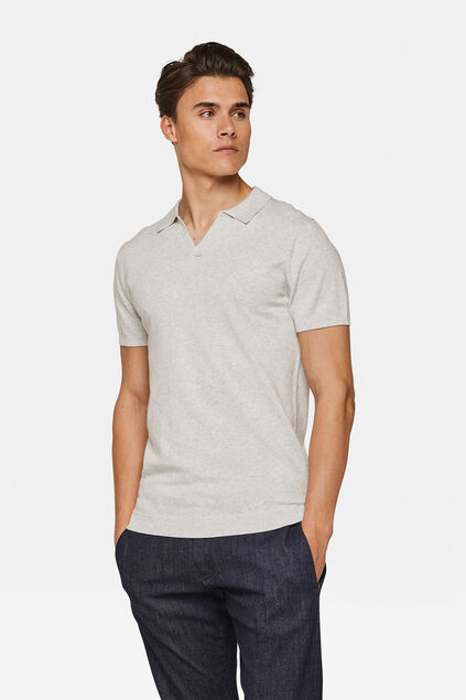 Polo tricot homme Gris clair