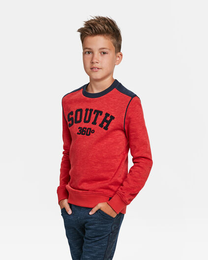 SWEAT-SHIRT SOUTH PRINT GARÇON Rouge vif