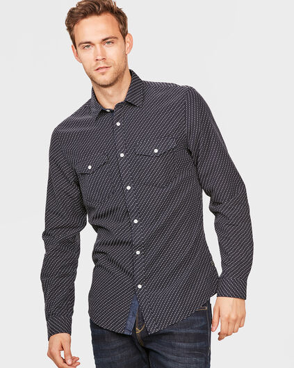 CHEMISE RELAXED FIT PRINTED HOMME Bleu foncé