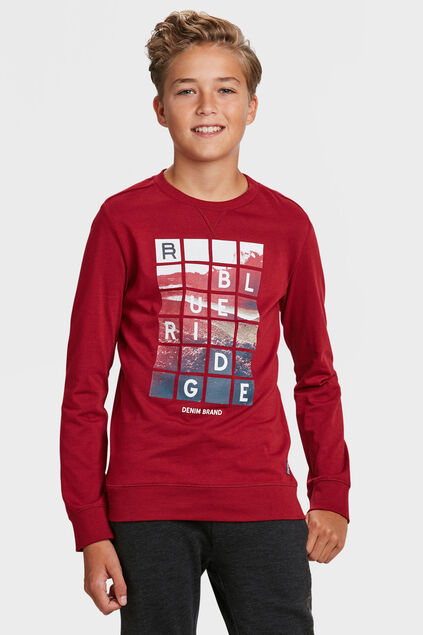 SWEAT-SHIRT BLUE RIDGE GARÇON Bordeaux