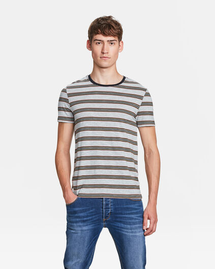T-SHIRT SLIM FIT STRIPE HOMME Vert mousse