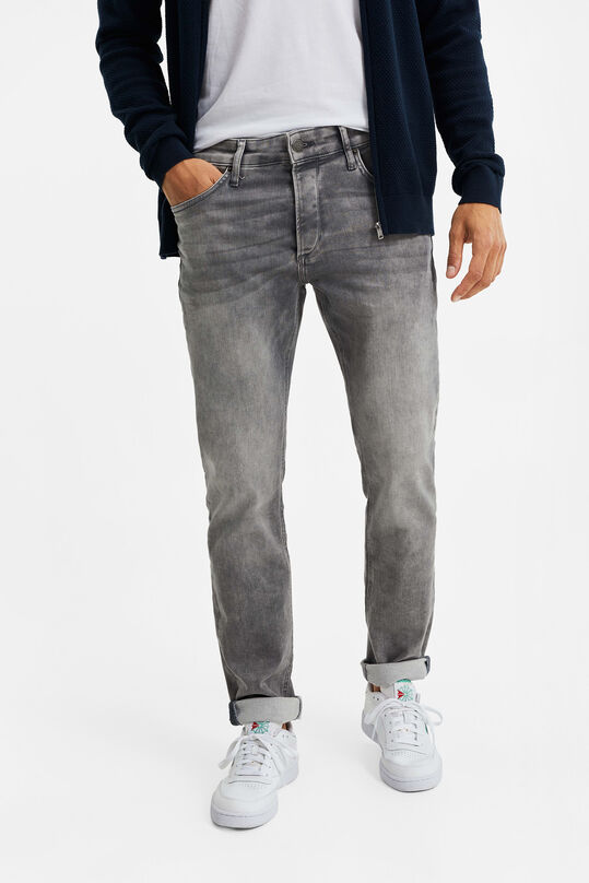 Jeans de jog denim slim fit homme Gris clair