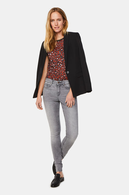 Jeans super skinny à taille normale femme Gris