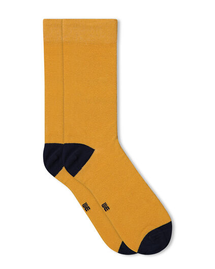 CHAUSSETTES HOMME Jaune moutarde