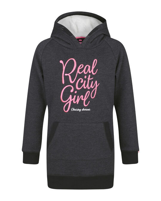 ROBE-SWEAT HOODED FILLE Gris