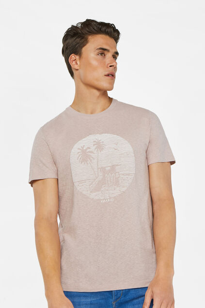 T-shirt à application homme Rose clair