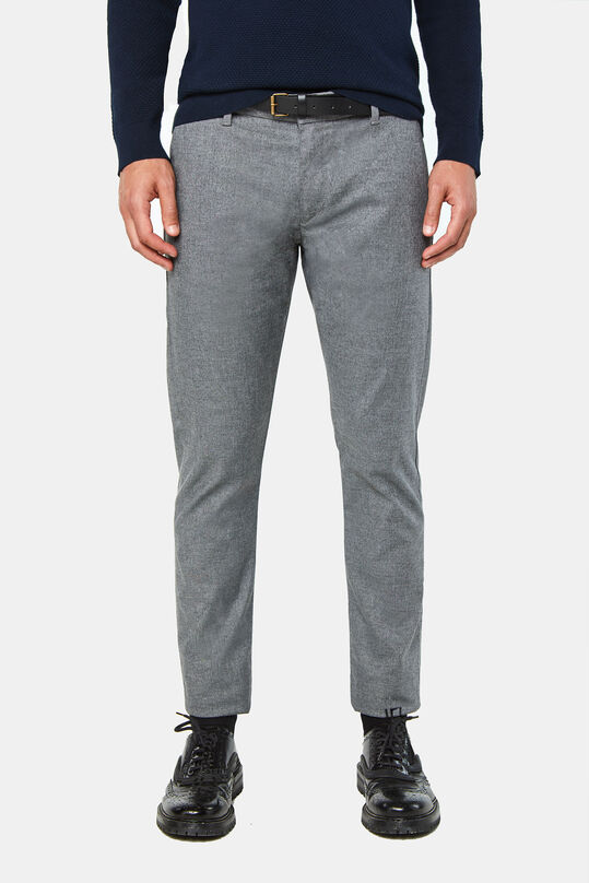 Chino slim tapered homme Gris